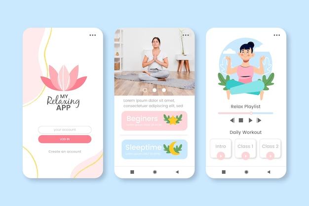 Modello di app di meditazione