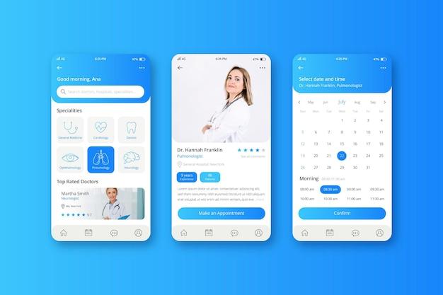 Modello di app di prenotazione medica