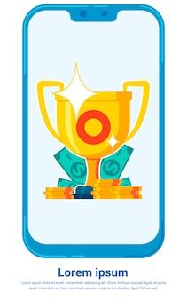Modello di app di telefonia mobile trading mercato azionario