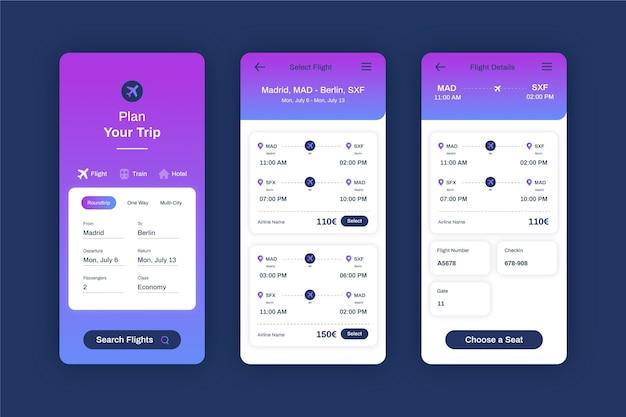 Modello di app per la prenotazione di viaggi