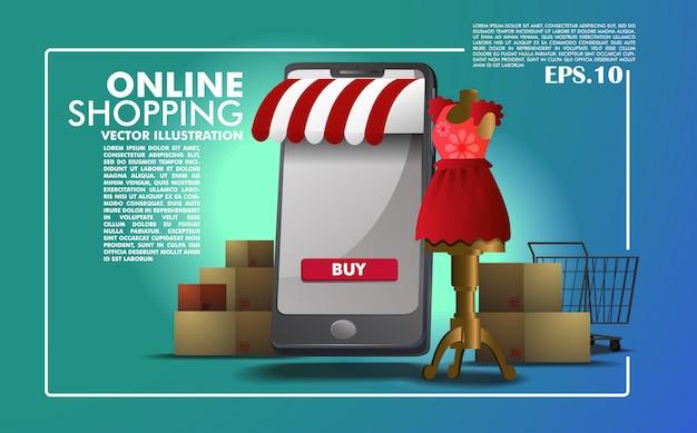 Modello di applicazione per lo shopping online