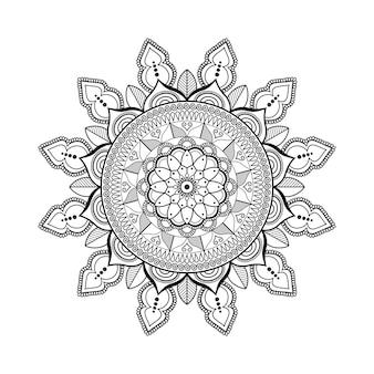Modello di arte mandala fiore