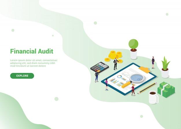 Modello di audit finanziario per modello di sito web