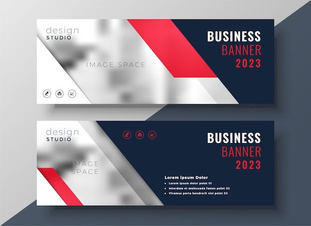 Modello di bandiera business moderno tema rosso