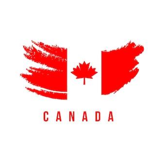Modello di bandiera del pennello bandiera del canada