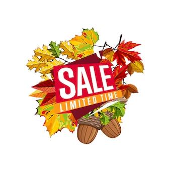 Modello di bandiera di vendita autunno