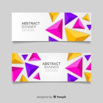 Modello di bandiera geometrica astratta