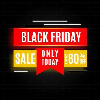 Modello di bandiera vendita venerdì nero chiaro