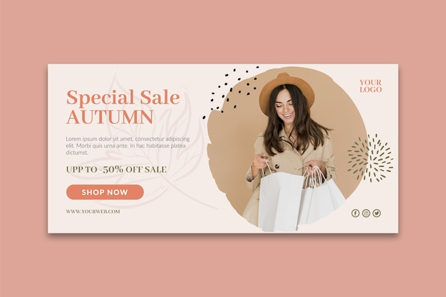 Modello di banner acquisti online