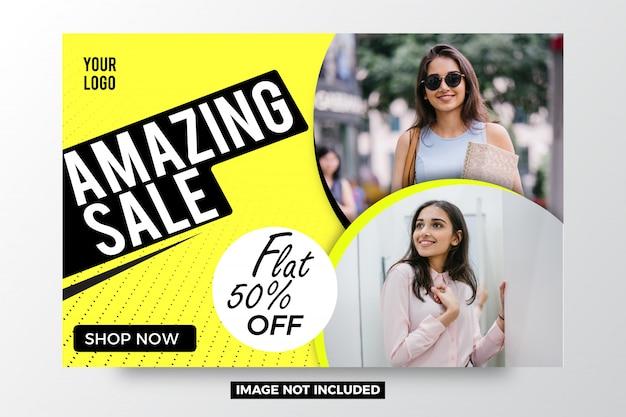 Modello di banner astratto di vendita incredibile