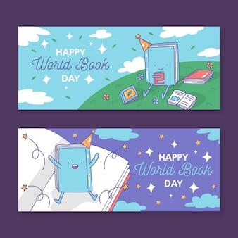 Modello di banner con tema giornata mondiale del libro