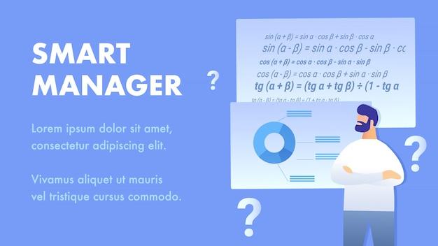 Modello di banner del servizio smart manager