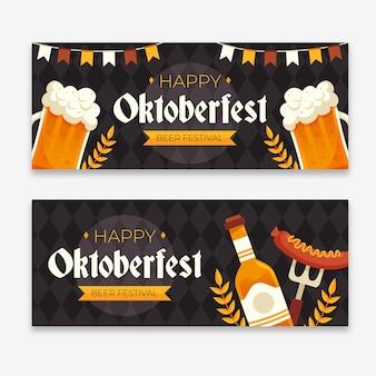 Modello di banner dell'oktoberfest