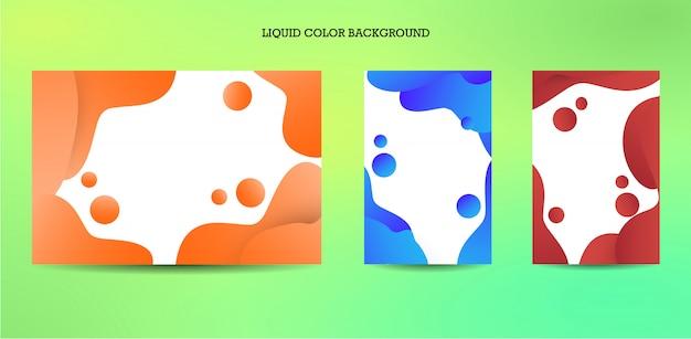 Modello di banner di colore liquido