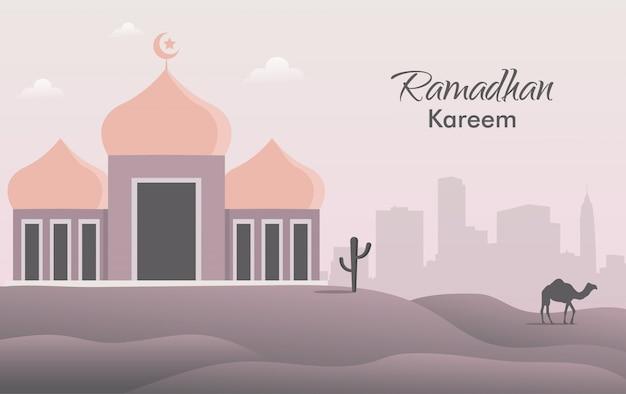 Modello di banner di concetto di evento di ramadhan.