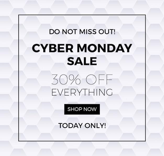Modello di banner di cyber lunedì
