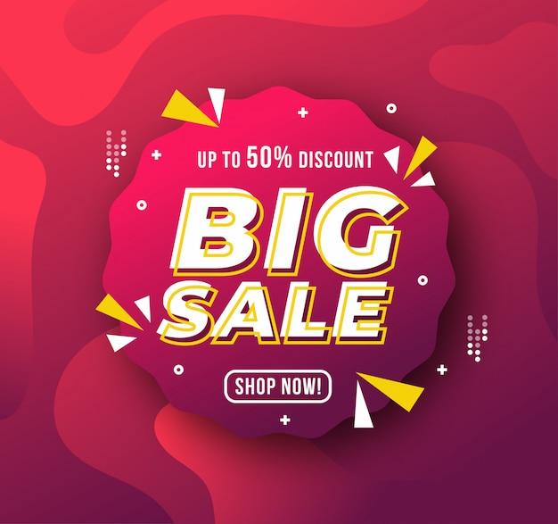 Modello di banner di grande vendita promozione