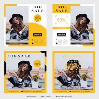 Modello di banner di grande vendita