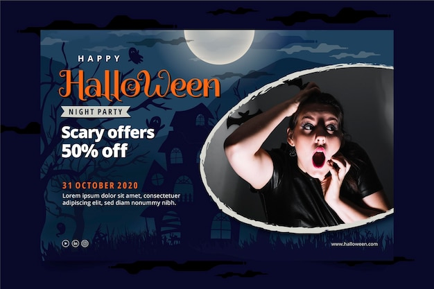 Modello di banner di halloween