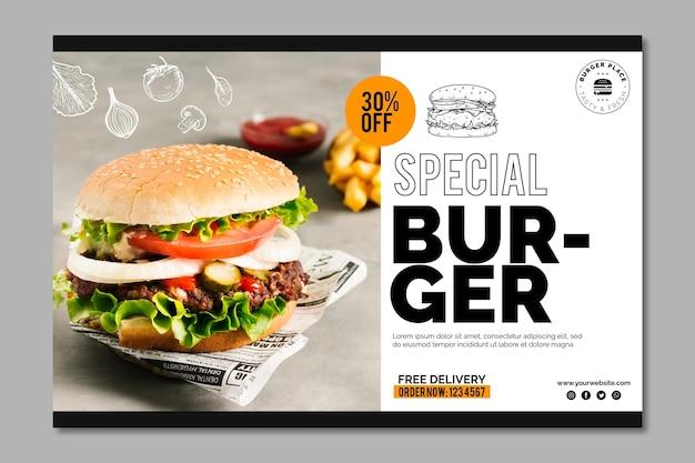 Modello di banner di hamburger