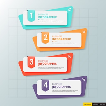 Modello di banner di infografica