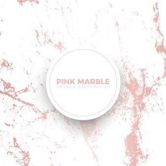 Modello di banner di marmo rosa grunge
