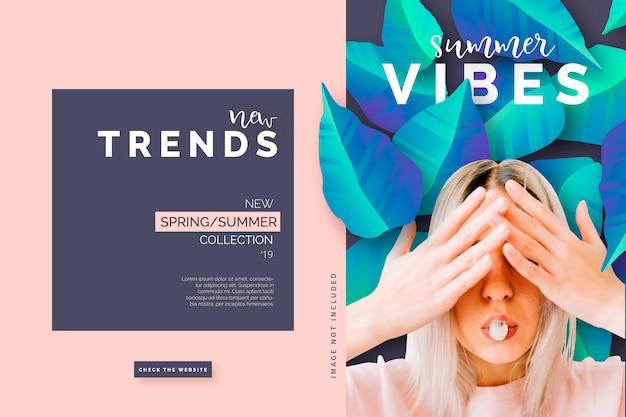 Modello di banner di moda moderna
