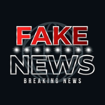 Modello di banner di notizie false