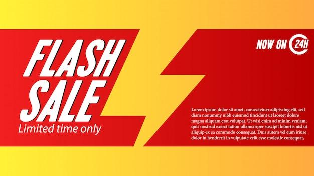 Modello di banner di offerta di vendita flash