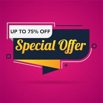 Modello di banner di promozione di vendita offerta speciale