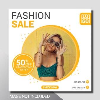 Modello di banner di promozione social media moda
