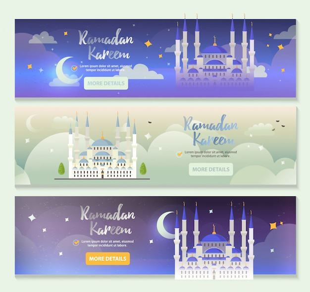 Modello di banner di ramadan kareem