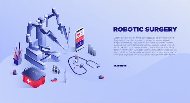 Modello di banner di servizio di chirurgia robotica