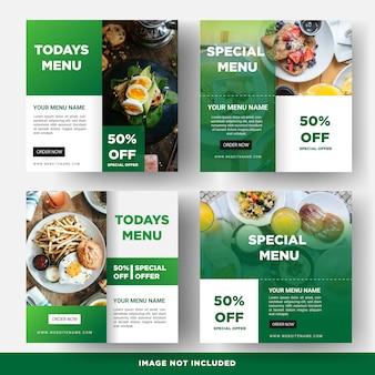 Modello di banner di social media alimentari