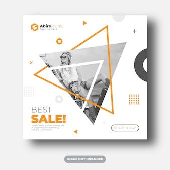 Modello di banner di social media migliore vendita