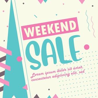 Modello di banner di vendita di fine settimana