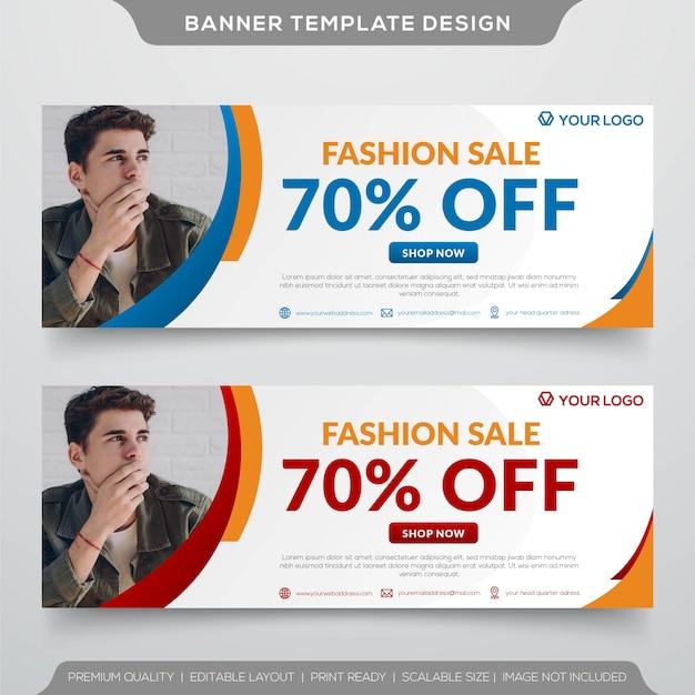 Modello di banner di vendita di moda premium