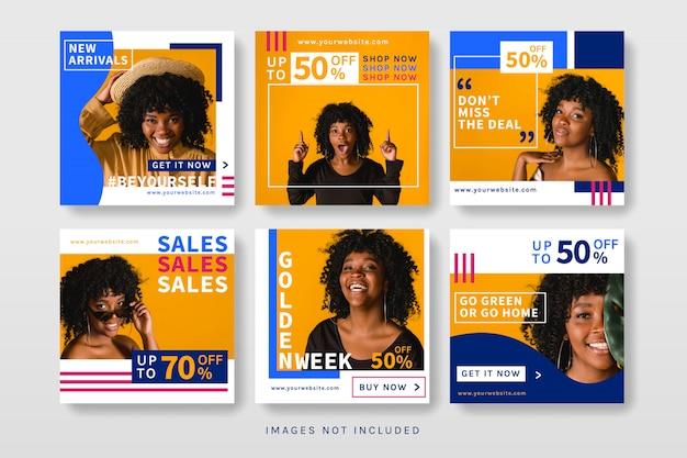 Modello di banner di vendita di social media