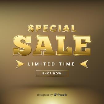 Modello di banner di vendita elgant d'oro