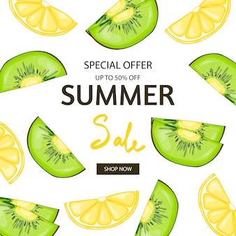 Modello di banner di vendita estiva