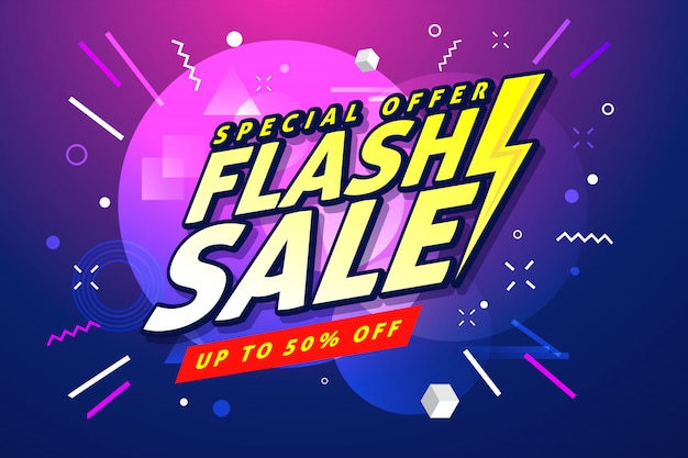Modello di banner di vendita flash.