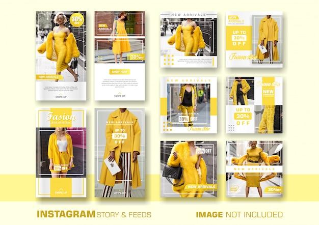 Modello di banner di vendita giallo
