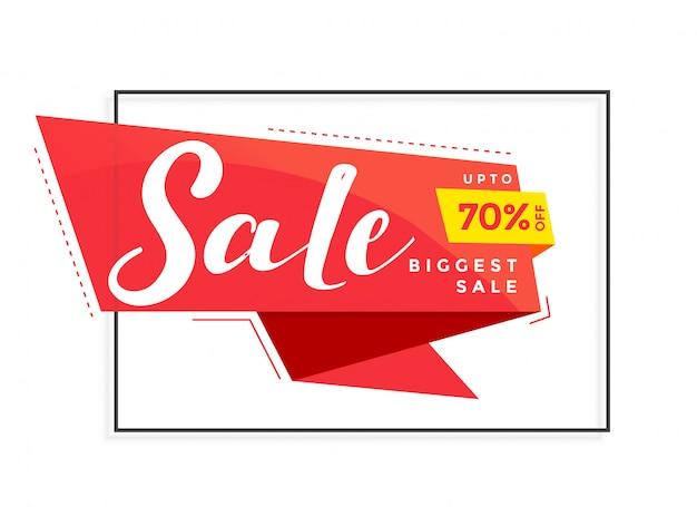 Modello di banner di vendita moderna per marketing e promozione