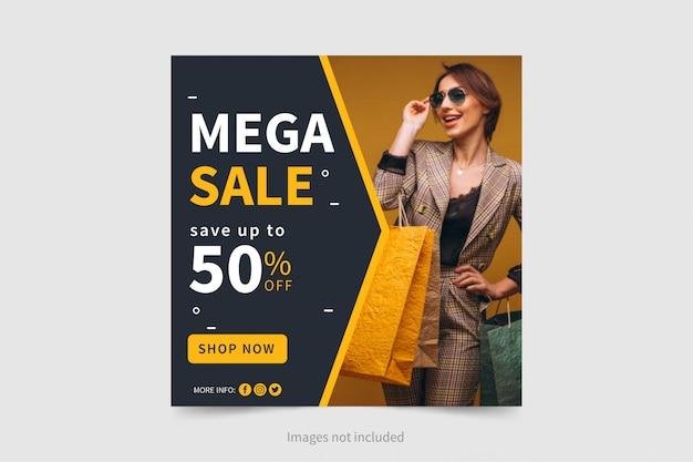 Modello di banner di vendita moderna