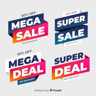 Modello di banner di vendita, offerta sconto mega affare