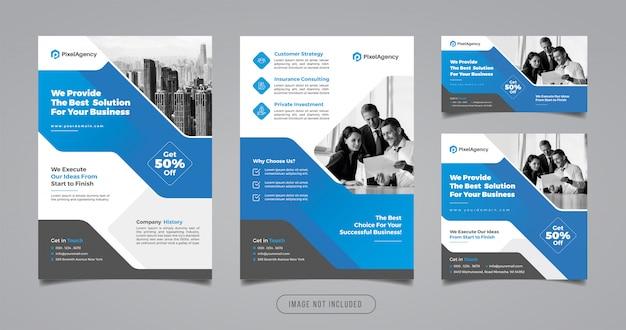 Modello di banner e flyer di social media agenzia creativa