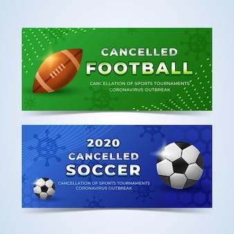 Modello di banner eventi sportivi annullato