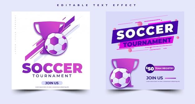 Modello di banner evento torneo di calcio