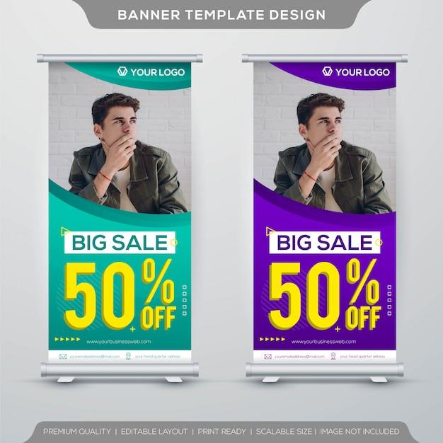 Modello di banner grande vendita stand