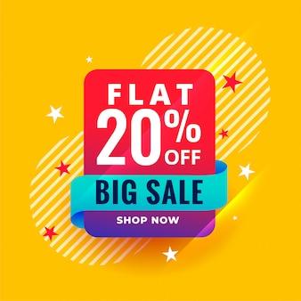 Modello di banner grande vendita stile moderno